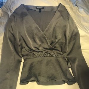 Silver/gray blouse. Excellent condition